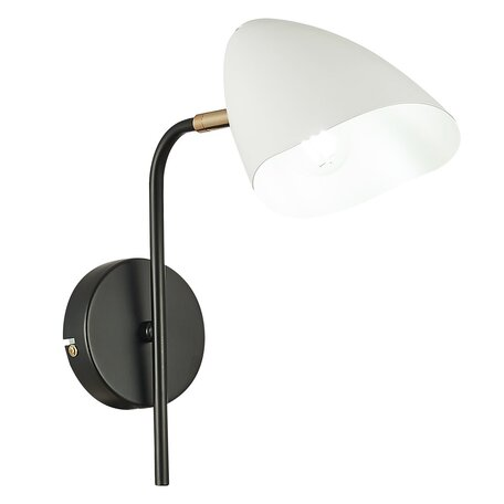 Бра с регулировкой направления света Evoluce Satta SLE103601-01, 1xE14x40W, черный, белый, металл