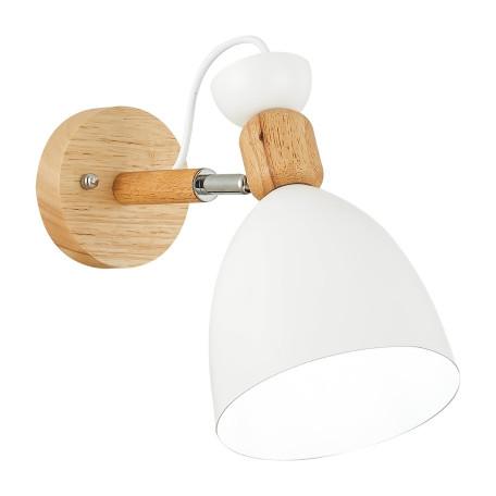 Настенный светильник с регулировкой направления света Evoluce Balcamo SLE103801-01, 1xE27x60W, коричневый, белый, дерево, металл