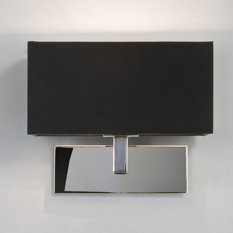 Бра Astro Park Lane 1080002 (0516), 1xE14x60W, хром, черный, металл, текстиль