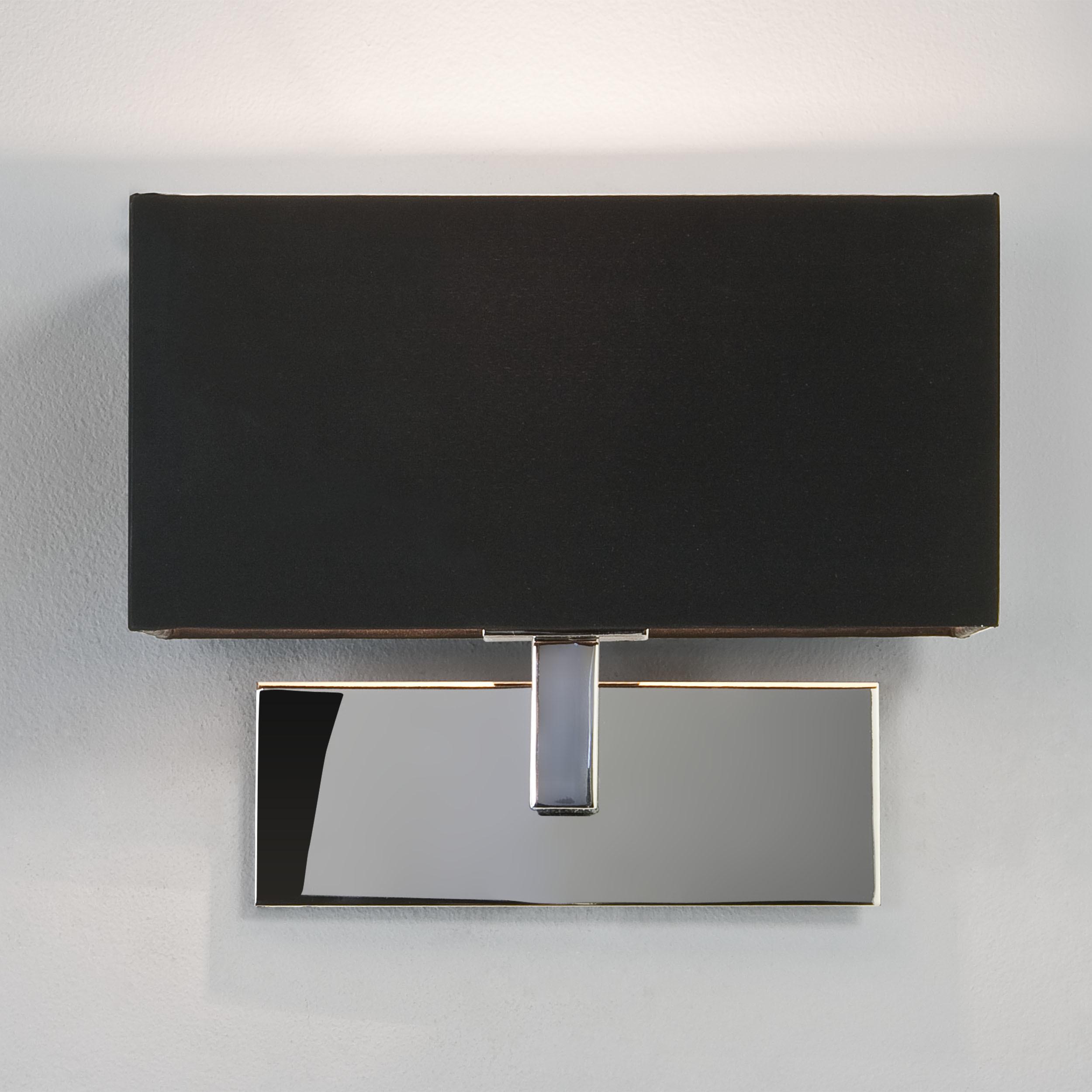 Бра Astro Park Lane 1080002 (516), 1xE14x60W, хром, черный, металл, текстиль - фото 1