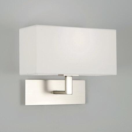 Бра Astro Park Lane 1080009 (0763), 1xE14x60W, никель, белый, металл, текстиль
