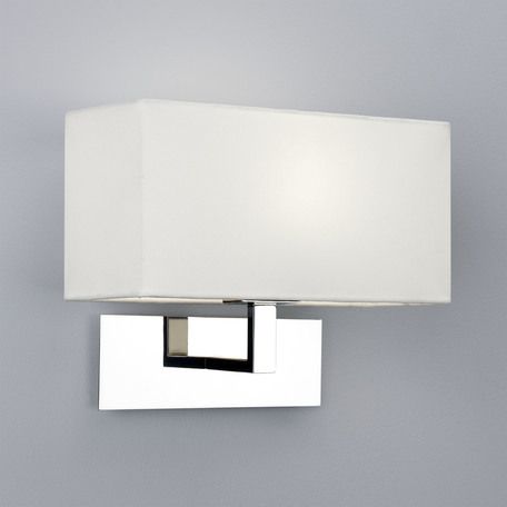Бра Astro Park Lane 1080011 (865), 1xE14x60W, хром, белый, металл, текстиль