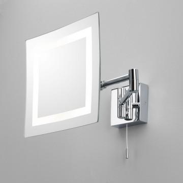 Косметическое зеркало с подсветкой и увеличением Astro Torino 1054001 (355), IP44, 1xG9x25W, хром, металл
