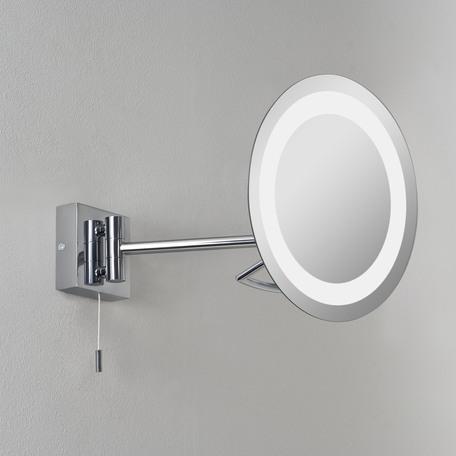 Косметическое зеркало с подсветкой и увеличением Astro Gena 1097001 (488), IP44, 1xG9x25W, хром, металл