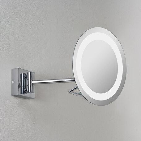 Косметическое зеркало с подсветкой и увеличением Astro Gena 1097002 (526), IP44, 1xGX53x9W, хром, металл