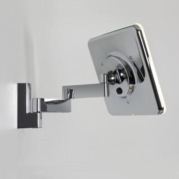 Косметическое зеркало со светодиодной подсветкой и увеличением Astro Niimi 1163002 (0815), IP44, LED 5,7W 3000K 144.85lm CRI65, зеркальный, хром, металл, стекло - миниатюра 2