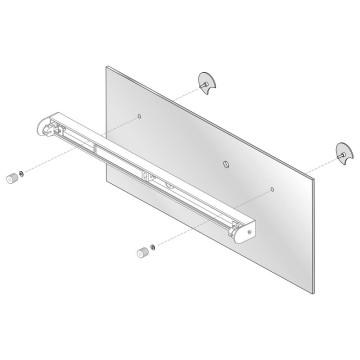 Набор для крепления светильника на зеркало Astro Mirror Adaptor Kit 6001002 (992), хром, металл