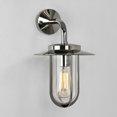 Настенный фонарь Astro Montparnasse 1096001 (484), IP44, 1xE27x60W, хром, прозрачный, металл, металл со стеклом - миниатюра 1