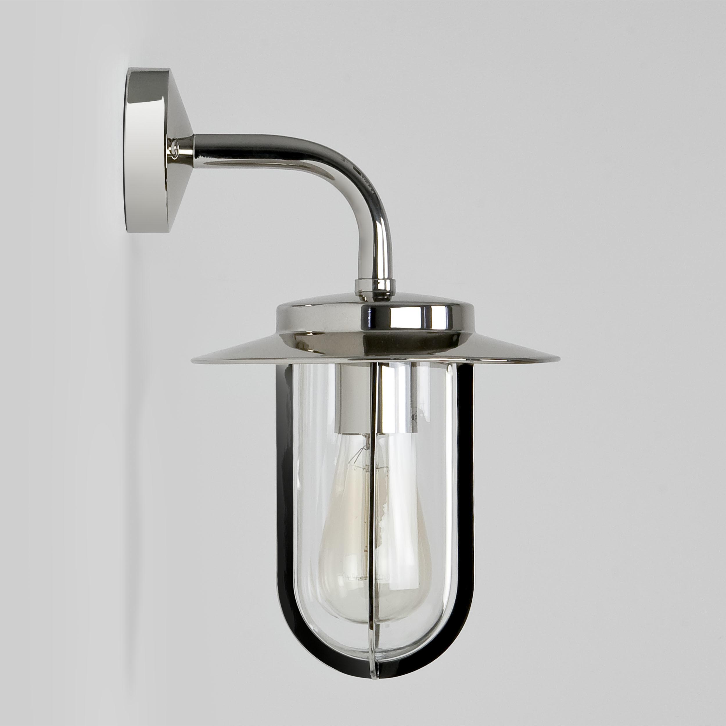 Настенный фонарь Astro Montparnasse 1096001 (484), IP44, 1xE27x60W, хром, прозрачный, металл, металл со стеклом - фото 3