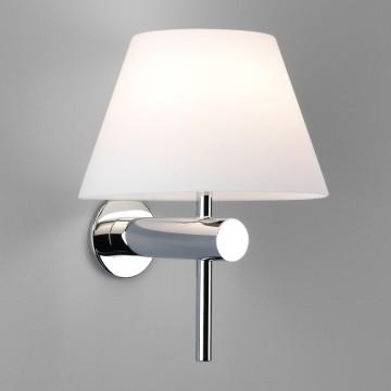 Бра Astro Roma 1050001 (343), IP44, 1xG9x40W, хром, белый, металл, стекло