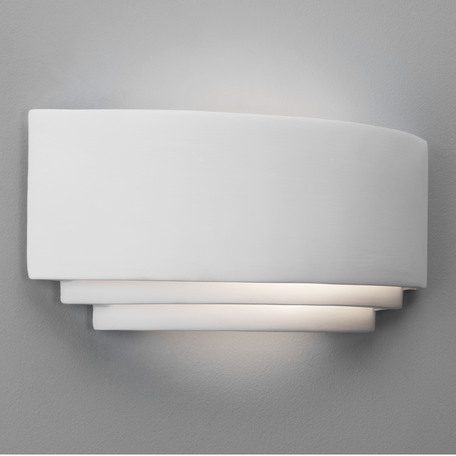 Настенный светильник Astro Amalfi 1079001 (0423), 1xE27x60W, белый, под покраску, керамика