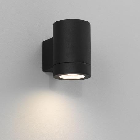Настенный светильник Astro Porto 1082004 (0624), IP44, 1xGU10x11W, черный, металл, стекло