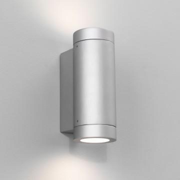 Настенный светильник Astro Porto 1082005 (0625), IP44, 2xGU10x7W, серебро, металл, стекло