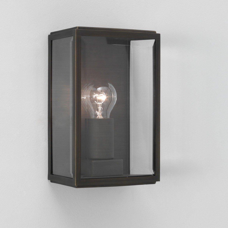 Настенный светильник Astro Homefield 1095002 (0562), IP44, 1xE27x60W, бронза, прозрачный, стекло - фото 1