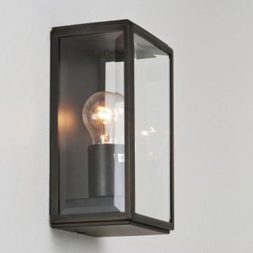 Настенный светильник Astro Homefield 1095002 (0562), IP44, 1xE27x60W, бронза, прозрачный, стекло - миниатюра 2