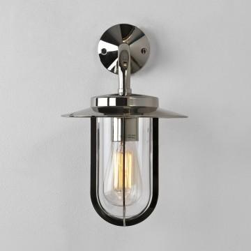 Настенный фонарь Astro Montparnasse 1096001 (484), IP44, 1xE27x60W, хром, прозрачный, металл, металл со стеклом