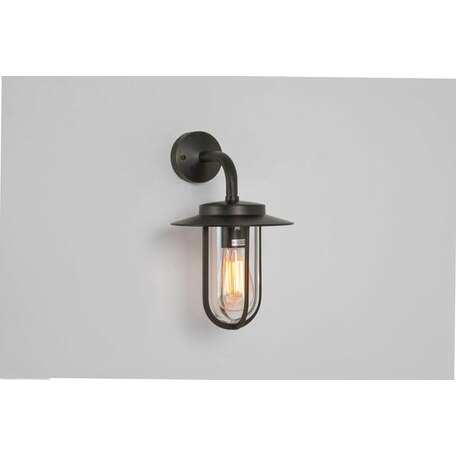 Настенный фонарь Astro Montparnasse 1096002 (0561), IP44, 1xE27x60W, бронза, прозрачный, металл, металл со стеклом