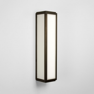 Настенный светильник Astro Mashiko 1121007 (0877), IP44, 2xE14x40W, белый, бронза, стекло