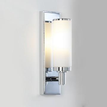 Бра Astro Verona 1147001 (655), IP44, 1xE14x40W, хром, белый, металл, стекло