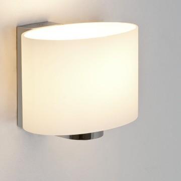 Настенный светильник Astro Siena 1149002 (666), IP44, 1xE14x60W, хром, белый, металл, стекло