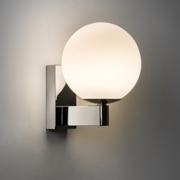 Бра Astro Sagara 1168001 (774), IP44, 1xG9x40W, хром, белый, металл, стекло