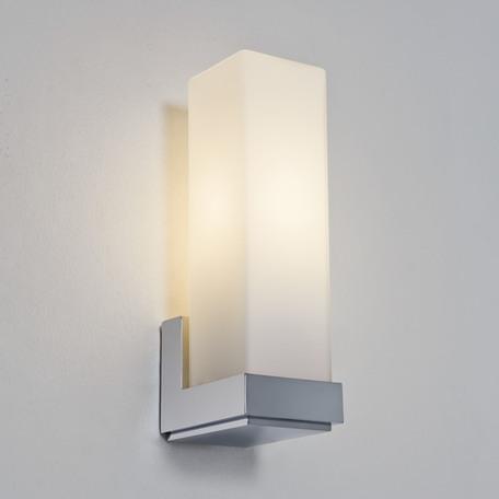 Настенный светильник Astro Taketa 1169001 (775), IP44, 1xE14x40W, хром, белый, металл, стекло