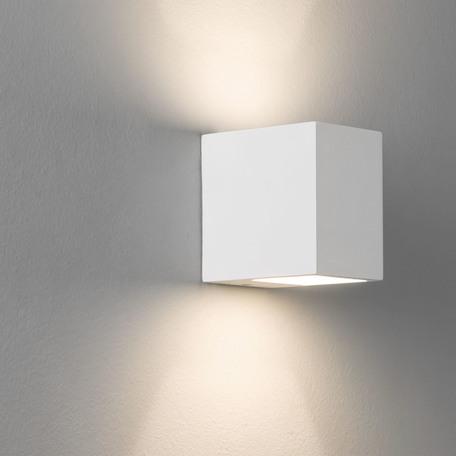 Настенный светильник Astro Mosto 1173001 (0813), 1xG9x40W, белый, под покраску, гипс