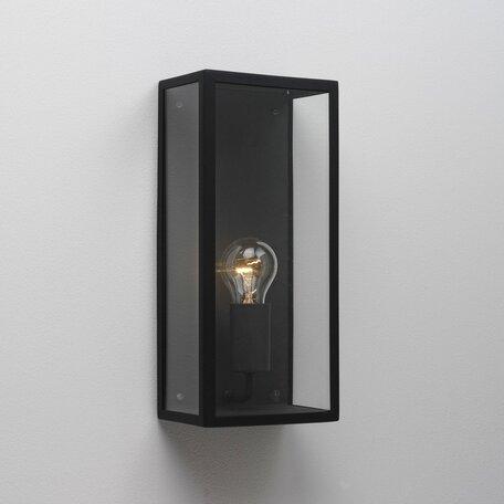 Настенный светильник Astro Messina 1183001 (866), IP44, 1xE27x60W, черный, прозрачный, стекло