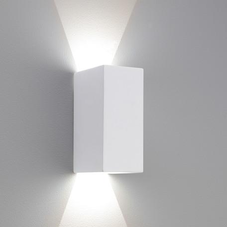 Настенный светодиодный светильник Astro Parma 1187001 (886), LED 6,37W 3000K 134lm CRI80, белый, под покраску, гипс