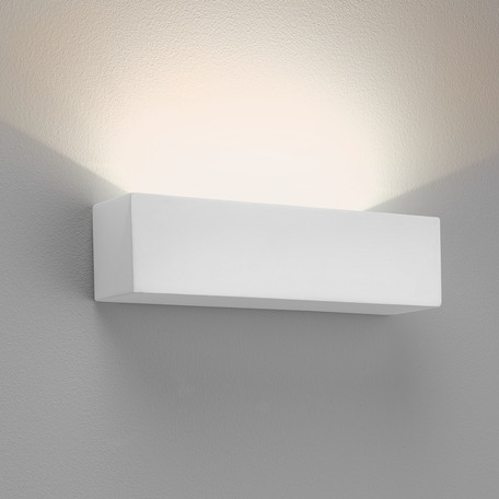 Настенный светодиодный светильник Astro Parma 1187002 (0887), LED 9,04W 3000K 301lm CRI80, белый, под покраску, гипс