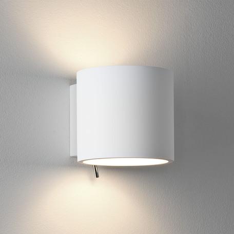 Настенный светильник Astro Brenta 1195001 (0916), 1xE14x60W, белый, под покраску, металл, гипс