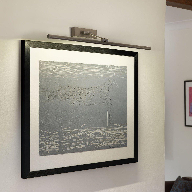 Настенный светодиодный светильник для подсветки картин Astro Goya 1115009 (875), LED 12,6W 2700K 630.8lm CRI80, никель, металл - фото 1