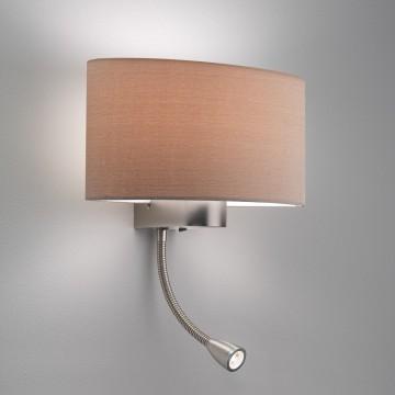 Основание бра с дополнительной подсветкой Astro Napoli LED 1185002 (882), 1xE27x60W + LED 1W 3000K CRI80, никель, металл