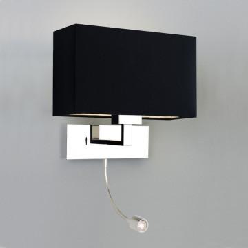 Основание бра с дополнительной подсветкой Astro Park lane 1080006 (0541), 1xE27x60W + LED 1W, 3000K (теплый), хром, металл