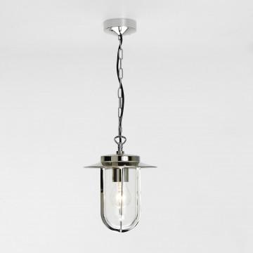 Подвесной светильник Astro Montparnasse 1096004 (671), IP44, 1xE27x60W, хром, прозрачный, металл, металл со стеклом