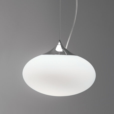 Подвесной светильник Astro Zeppo 1176002 (965), 1xE27x60W, хром, белый, металл, стекло