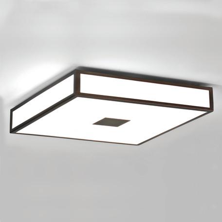 Потолочный светильник Astro Mashiko Classic 1121013 (0969), IP44, 4xE27x40W, бронза, белый, металл, стекло