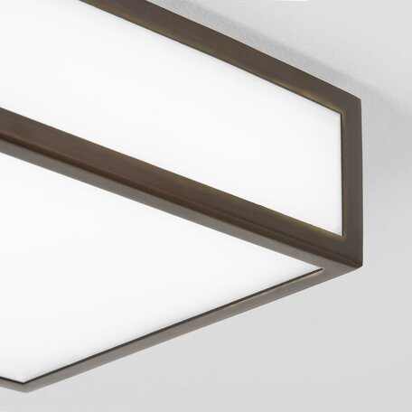 Потолочный светильник Astro Mashiko 1121014 (0993), IP44, 1xE27x60W, бронза, белый, металл, стекло