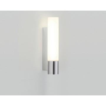 Настенный светильник Astro 0572, матовый хром, белый, металл, стекло