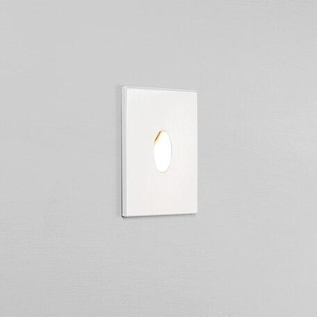 Встраиваемый настенный светодиодный светильник Astro Tango LED 1175001 (825), IP65, LED 1W 3000K 22.68lm CRI80, белый, металл, стекло