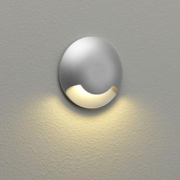 Встраиваемый настенный светодиодный светильник Astro Beam One LED 1202001 (937), IP67, LED 2,2W 3000K 7lm CRI80, серебро, металл