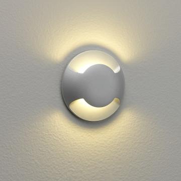 Встраиваемый настенный светодиодный светильник Astro Beam One LED 1202002 (938), IP67, LED 2,2W 3000K 11lm CRI80, серебро, металл