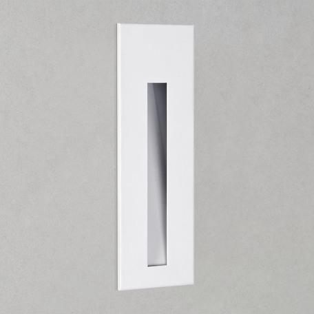 Встраиваемый настенный светодиодный светильник Astro Borgo 1212001 (970), LED 2W 3000K 38.8lm CRI80, белый, металл