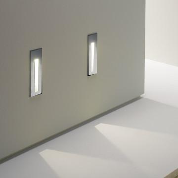 Встраиваемый настенный светодиодный светильник Astro Borgo 1212002 (971), LED 2W 3000K 38.8lm CRI80, хром, металл - миниатюра 5
