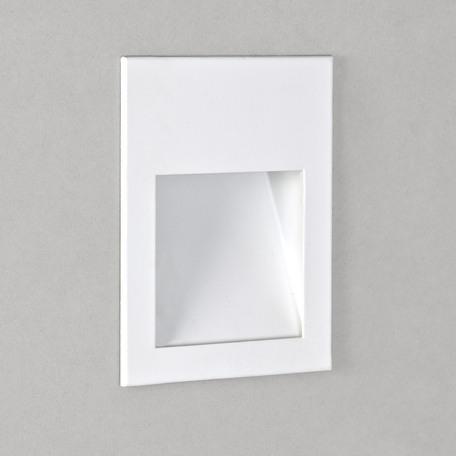 Встраиваемый настенный светодиодный светильник Astro Borgo 1212004 (973), LED 2W 3000K 71.6lm CRI80, белый, металл