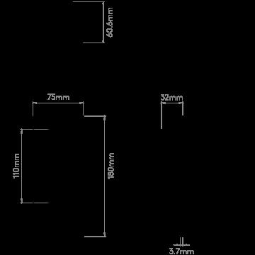 Схема с размерами Astro 1215002