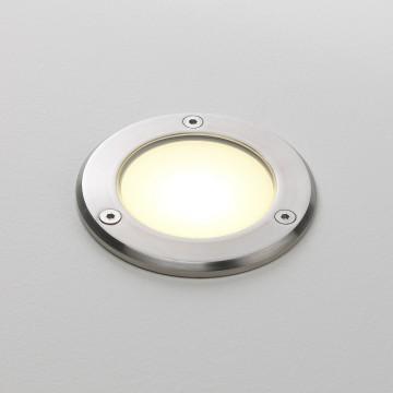 Встраиваемый в уличное покрытие светодиодный светильник Astro Terra 1201001 (935), IP67, LED 2,35W 3000K 25.49lm CRI80, сталь, металл, стекло