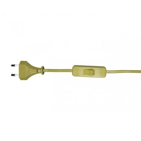 Кабель питания с выключателем и вилкой Kink Light A2300,20, бронза