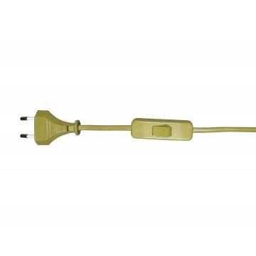 Кабель питания с выключателем и вилкой Ozcan A2300,20, бронза