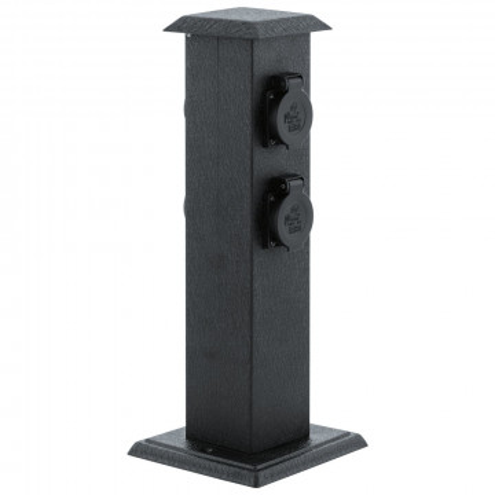 Блок розеток Eglo Park 4 93426, IP44, черный, металл